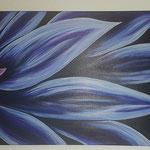 - Nachtscheingewächs- 100cm x 50cm, Acryl auf Leinwand