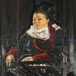 Viola portrait 140 cm x 120 cm oil on canvas 2008