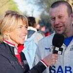 Nathalie Vincent (TV)et Olivier Panis (sport)
