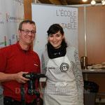 Anne Lyse (Master chef) et Didier Verchère (photographe)