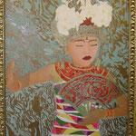 Autore: Letizia Malpassi - Titolo: L'oro d'Oriente - Tecnica: Olio su tela - Dimensioni: 100x70 cm