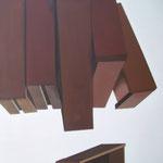 Autore : Luisa Bergamini - Titolo: Scendere dal lato opposto - Tecnica: Mista su tela - Dimensioni: 100x70cm