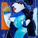 Autore : Cesare Maremonti - Titolo: Ritratto 2 - Tecnica: Mista su cartoncino - Dimensioni: 42x59 cm
