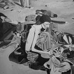 Autore: Nicholas Tolosa  - Titolo: Nelle mani nulla - Tecnica: acrilico su tela - Dimensioni: 50 x 70 cm - Anno: 2013
