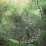 Autore : Kaori Tommasoni - Titolo: Il ponte vecchio - Tecnica: Pastello - Dimensioni: 70x60 cm