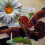 Autore : Maria Grazia Algisi - Titolo: Amore e musica 2 - Tecnica: Mista - Dimensioni: 30x40 cm