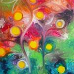Autore : Roberta De Tommaso - Titolo: L'albero della vita - Tecnica: Olio - Dimensioni: 100x60 cm