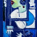 Autore : Cesare Maremonti - Titolo: Ritratto 1 - Tecnica: Mista su cartoncino - Dimensioni: 36x56 cm