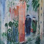 148 Unterwegs II, Acryl und Pastell auf Leinwand, Gitta Junge, 40 x 30 cm