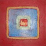 291 Karree M 1, Öl und Acryl auf Leinwand, Herta Reitz, 50 x 50 cm