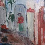 148 Unterwegs I, Acryl und Pastell auf Leinwand, Gitta Junge, 40 x 30 cm