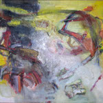 120 Ohne Titel,  Öl und Acryl auf Leinwand, Manfred  Rüth, 80 x 100 cm