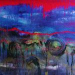 303 Im Rausch der Sinne, Acryl auf Leinwand, Elsa von Blanc, 72 x 120 cm