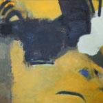 081 O.T., Mischtechnik auf Leinwand, Manfred Rüth, 90 x 180 cm