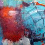 169 Rot, Öl und Acryl auf Leinwand, Manfred  Rüth, 90 x 120 cm