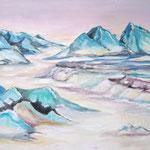 293 Sinai 1, Acryl auf Leinwand, Helma Steppan, 80 x 100 cm