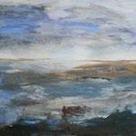 135 Landschaft II, Acryl auf Leinwand, Ingrid Stolzenberg, 50 x 100 cm