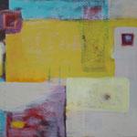 111 Gelbland,  Öl und Acryl auf Leinwand, Herta Reitz, 80 x 100 cm
