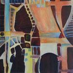 024 Ohne Titel II, Acryl auf Leinwand, Brigitte Reich, 60 x 60 cm