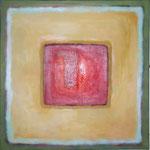 115 Karree L23,  Öl und Acryl auf Leinwand, Herta Reitz, 58 x 58 cm