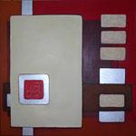 335 Chip 2, Acryl auf Leinwand, Herta Reitz, 100 x 100 cm