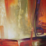 079 Abstrakt, Acryl auf Leinwand,  Karin Lesser-Köck, 40 x 40 cm