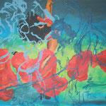 127 Schleiertanz, Acryl auf Leinwand, Wolf Pannitschka, 80 x 100 cm