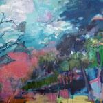 223 Sommertag, Öl und Acryl auf Leinwand, Manfred  Rüth, 90 x 120 cm