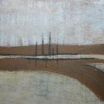 298 Steg, Mischtechnik auf Leinwand, Ilse Leineweber, 60 x 80 cm