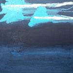 311 Preussisch Blau, Acryl auf Leinwand, Ilse Leineweber, 50 x 50 cm