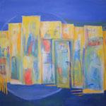 099 La Porte, Acryl auf Leinwand, Brigitte Reich, 120 x 120 cm