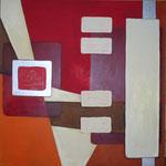 334 Chip 1, Acryl auf Leinwand, Herta Reitz, 100 x 100 cm