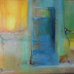 057 ge-Räumt, Acryl auf Leinwand, Brigitte Reich, 60 x 80 cm