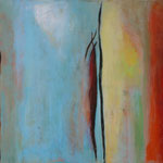 050 Silence II, Öl und Acryl auf Leinwand, Herta Reitz, 70 x 100 cm