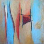 213 Wo ist das Meer II, Öl und Acryl auf Leinwand, Herta Reitz, 60 x60 cm