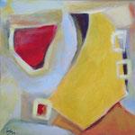 221 Segel im Wind II, Acryl auf Leinwand, Herta Reitz, 40 x 40 cm
