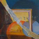 107 Kreisgeschichten I, Acryl auf Leinwand, Brigitte Reich, 60 x 60 cm