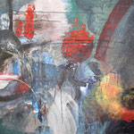 027 Wasserfall, Acryl auf Leinwand, Wolf Pannitschka, 90 x 120 cm