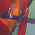 003 I Abstraktionen, Acryl auf Leinwand, Brigitte Reich, 60 x 60 cm
