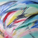 128 Farbexplosion, Öl auf Papier, Gabriele Gottron, 75 x 50 cm