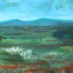 013 Taunusblick, Öl und Acryl auf Leinwand, Herta Reitz, 50 x 70 cm