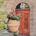 008 Toscana, Aquarell 300, Horst Eckert, 50 x 70 cm mit Rahmen