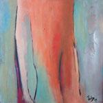016 Regenbogenberge, Öl und Acryl auf Leinwand, Herta M. Reitz, 60 x 60 cm