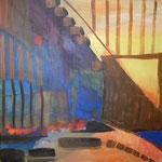 254 Überall, Acryl auf Leinwand, Brigitte Reich, 40 x 40 cm