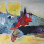 106 Freiheit I,  Öl und Acryl auf Leinwand, Herta Reitz, 58 x 76 cm