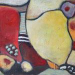 323 Farbenspiel VI, Öl und Acryl auf Leinwand, Herta Reitz, 60 x 80 cm