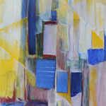 287 Ohne Titel, Acryl auf Leinwand, Brigitte Reich, 100 x 50 cm