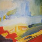 211 In der Welt, Acryl auf Leinwand, Brigitte Reich, 80 x 100 cm