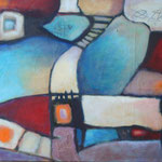 317 Farbenspiel V,Öl und Acryl auf Leinwand, Herta Reitz, 65 x 80 cm