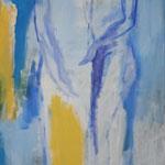 202 Das Paar, Acryl auf Leinwand, Brigitte Reich, 120 x 50 cm